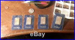 (1) 1 oz PAMP Gold Suisse Bar. 9999 Fine Sealed In Assay random serial number