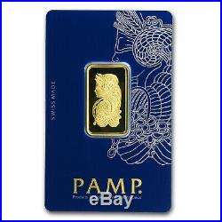 1/2 oz Gold Bar PAMP Suisse Lady Fortuna Veriscan (In Assay) SKU#159919