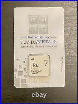 1/2 oz. PAMP Fundametals Ruthenium Bar In Assay Limited Run