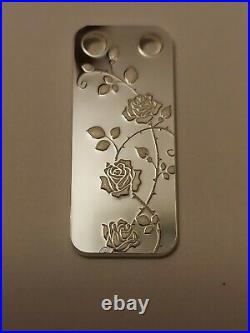 1/5 Ounce Silver Pamp Suisse Limited Edition Bloom Rose Pendant