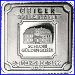 1 Gram 9995 Fine Platinum & 5 Gram 999 Silver Bar in Rare Silver Foil Note Set