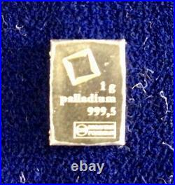 1 Gram Gold Bar, Palladium, Platinum & 10x1g. Silver Valcambi