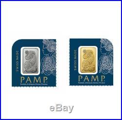 1 Gram Gold and Platinum Bar PAMP Suisse Starter Pack