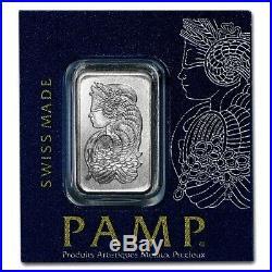 1 Gram Pamp Suisse. 9995 Fine Platinum Lady Fortuna Bullion Bar Assay Multigram