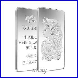 1 Kilo PAMP Suisse Fortuna Silver Bar (New with Assay)