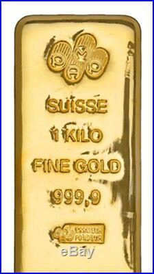 1 Kilo Pamp Suisse. 9999 Fine Gold Bar 32.15 Troy Ounces(withAssay)