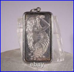 1 OZ PAMP SUISSE LADY FORTUNA. 999 SILVER BAR Pendant