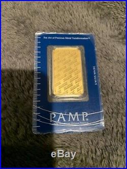 1 Ounce Pamp Suisse. 9999 Fine Gold Bar 1oz