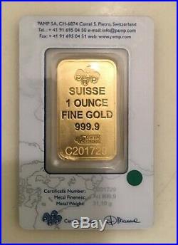 1 Oz Fine Gold Bar Au 999.9 By PAMP SUISSE C201729