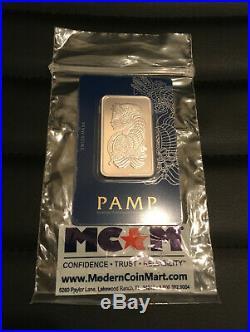 1 Oz. Rhodium Bar Bullion PAMP Suisse 999.0 Fine In Sealed Veriscan Assay Card