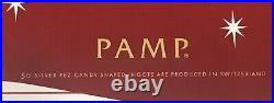 1- PAMP Suisse Silver PEZ Dispenser Snowman 6- 5g Wafers 30g Total, Great Gift