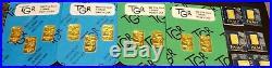1 TROY OZ. VARIETY Gold Bar PAMP Suisse Fortuna 999.9 FINE Sealed Assay IGR TGR