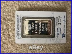 1 Troy oz Pamp Suisse Lady Fortuna. 999 Fine Silver Bar In Assay (Box of 25)