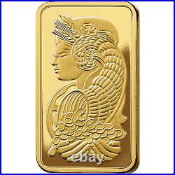 1 gram Gold Bar PAMP Suisse Fortuna 999.9 Fine in Sealed Assay