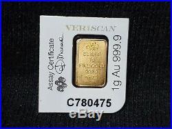 1 gram Gold Bar PAMP Suisse Lady Fortuna