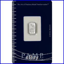 1 gram Palladium Bar PAMP Suisse Fortuna 999.5 Fine in Sealed Assay