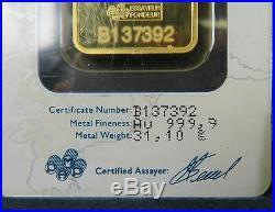 1 oz. 999 Fine Gold Bar PAMP Suisse Lady Fortuna APMEX