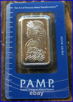 1 oz. Fine Platinum Bar. 9995 PAMP Suisse Lady Fortuna in Sealed Assay