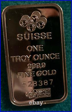 1 oz. Gold Bar PAMP Suisse 999.9 Fine