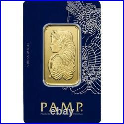 1 oz. Gold Bar PAMP Suisse 999.9 Fine Assay
