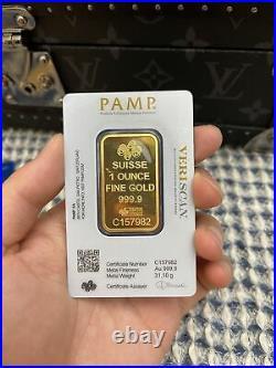 1 oz. Gold Bar PAMP Suisse Fortuna 999.9 Fine in Sealed Assay