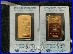 1 oz Gold Bar PAMP Suisse Lady Fortuna (In Assay)