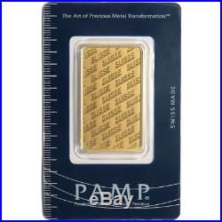 1 oz Gold Bar PAMP Suisse New Design (In Assay)