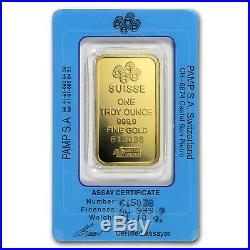 1 oz Gold Bar PAMP Suisse (Vintage Assay) SKU#166508