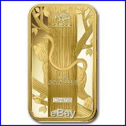 1 oz Gold Bar PAMP Suisse Year of the Monkey (In Assay) SKU #92810
