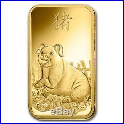 1 oz Gold Bar PAMP Suisse Year of the Pig (In Assay) SKU#173456