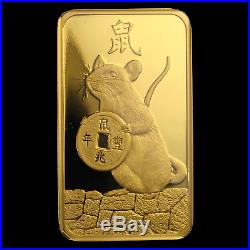 1 oz Gold Bar PAMP Suisse Year of the Rat (In Assay) SKU#198753