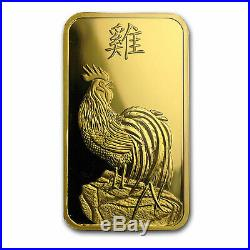 1 oz Gold Bar PAMP Suisse Year of the Rooster (In Assay) SKU #104120