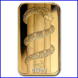 1 oz Gold Bar PAMP Suisse Year of the Snake (In Assay) SKU #83229