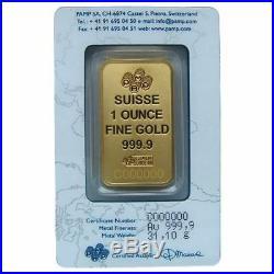 1 oz Gold Pamp Suisse Gold Bar Sealed in Assay