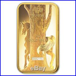 1 oz PAMP Suisse Year of the Horse Gold Bar (In Assay)