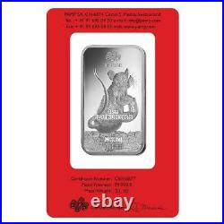 1 oz PAMP Suisse Year of the Mouse / Rat Platinum Bar (In Assay)