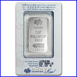 1 oz Palladium Bar PAMP Suisse (In Assay) SKU #11140