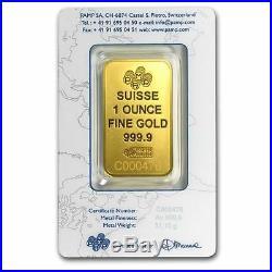 1 oz Pamp Suisse Gold Bar. 9999 Fine Gold With Assay Cert