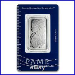1 oz Pamp Suisse Platinum Bar. 9995 Fine With Assay Cert