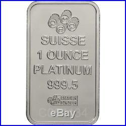 1 oz. Platinum Bar PAMP Suisse Fortuna 999.5 Fine in Sealed Assay