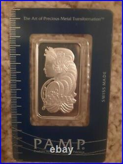 1 oz. Platinum Bar PAMP Suisse Fortuna 999.5 pure Platinum Sealed