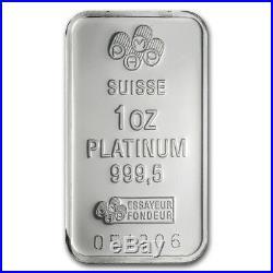 1 oz Platinum Bar PAMP Suisse (In Assay) SKU #46995
