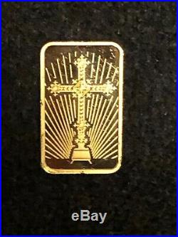 10 GRAM LIMITED EDITION PAMP SUISSE GOLD BAR WithCROSS! AWESOME NO SCRAP