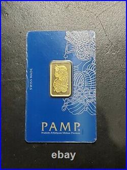 10 Gram Gold Bar PAMP Suisse Lady Fortuna