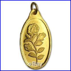 10 Gram Oval Gold Bar with PENDANT PAMP ROSE