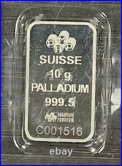 10 Gram Pamp Suisse Palladium Bar #C001516