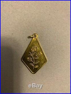 10 Gram Rose Pamp Suisse 24K Gold Bar. 9999 Gold Dream