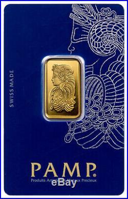 10 Grams Pamp Suisse Gold Bar Fine Gold 999.9
