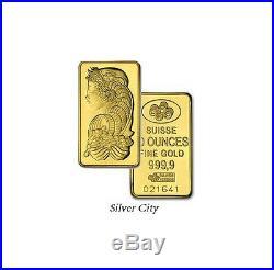 10 Ounce Pamp Suisse. 9999 Fine Gold Bar 10oz