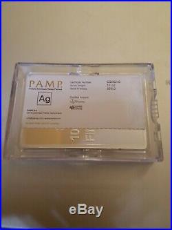 10 Oz 999 Silver Pamp Bar Fortuna